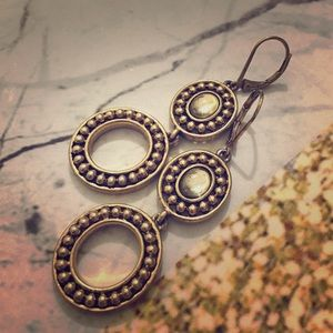 Statement antique earrings