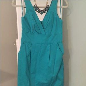 Express Dresses & Skirts - Express teal sheath dress size 2