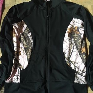 Zip Up Pink Camo Jacket