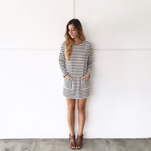 RESTOCKED • | new | striped pocket dress