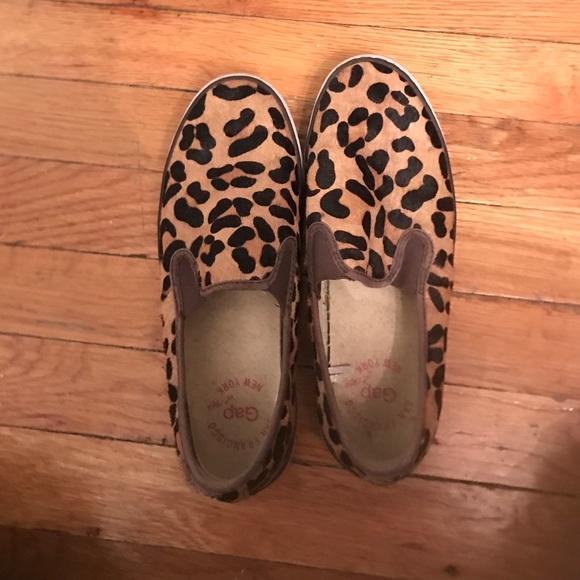 GAP Shoes | Leopard Slip On Sneakers