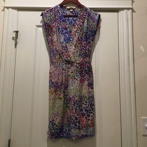Presley Skye April Faux Wrap Silk Dress