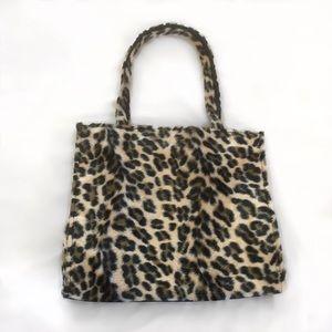 Fun cheetah faux fur purse