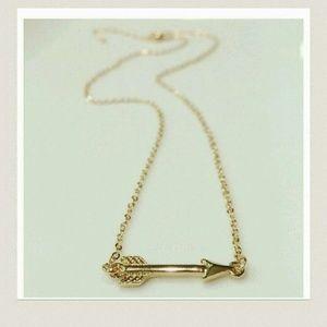 Farah Jewelry Jewelry - Jewelry | GOLD DIPPED ARROW PENDANT NECKLACE