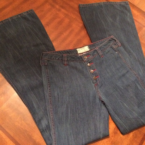 73 Off Free People Denim  NWOT Free People Embroidered