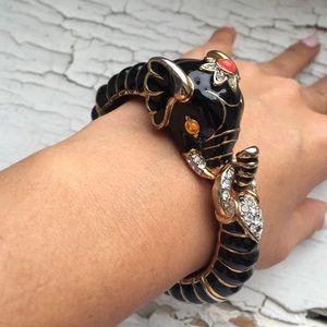 Kenneth Jay Lane elephant cuff
