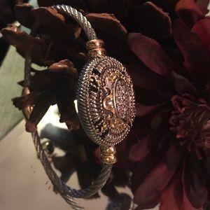 Jewelry - Genuine White Cubic Zirconia Magnetic Bracelet
