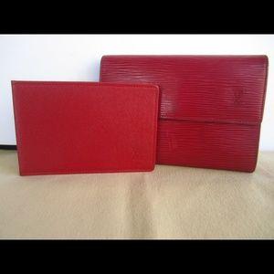 Authentic Louis Vuitton Epi Wallet With ID Case
