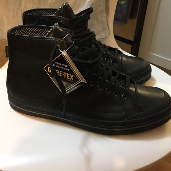 Tretorn Waterproof Black Leather Boots