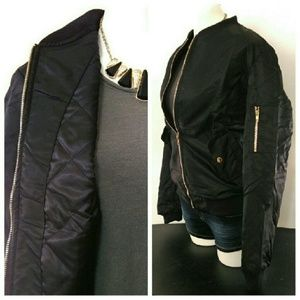 1eyed 1der boutique Jackets & Coats - Padded Black Bomber Jacket