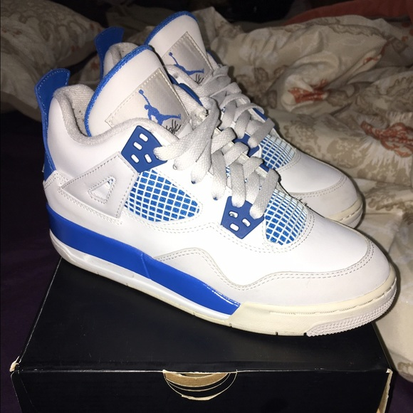 newest 54b9a 49333 Jordan Military Blue 4's