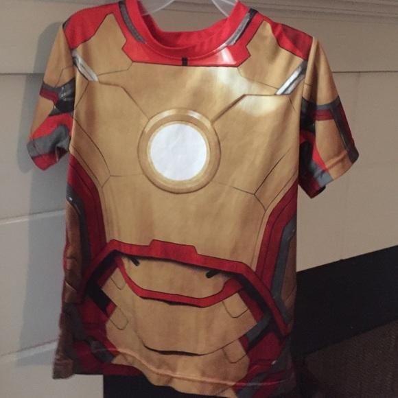 0b081c94 Under Armour Shirts & Tops   Heat Gear Iron Man Boys Shirt Size 6 ...