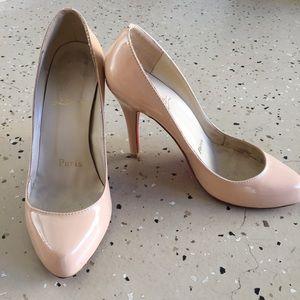 Beige 5 inch heels