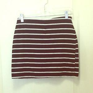 Lush striped mini skirt
