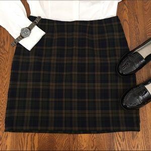 Lane Bryant Dresses & Skirts - 90s Vintage Navy & Olive Green Plaid Mini Skirt