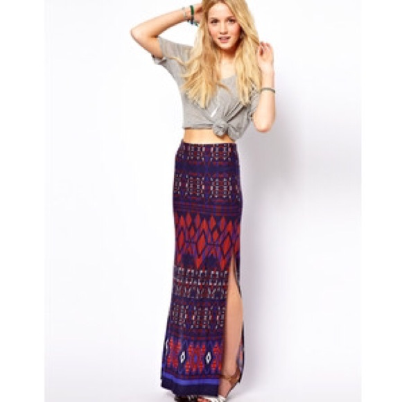 75% off ASOS Dresses & Skirts - ASOS Maxi skirt with high slits on ...