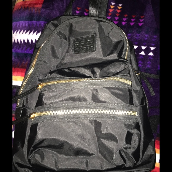 2fa54626f2 Marc Jacobs Black Nylon Gold Zipper Backpack