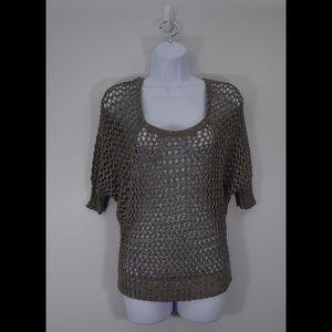 Kenar Sweaters - Kenar Open Weave Dolman Sleeve Sweater