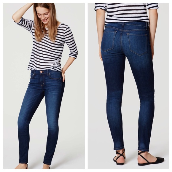 Curvy skinny jeans loft