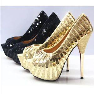 Shoes - Women's open toe stilettos high heel platform