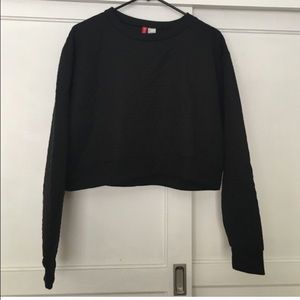 Black Crop Top Sweater