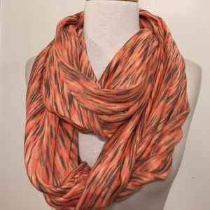 14th & Union Accessories - 14th & union peach and gray knit infinity scarf