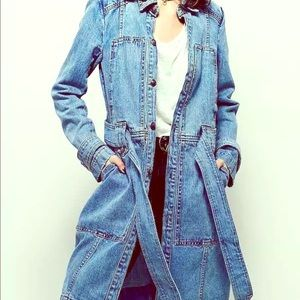 NWT FREE PEOPLE TRENCH JEAN COAT SZS