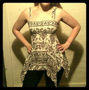 Tops - Boho Paisley Empire Waist Tank Top Tunic