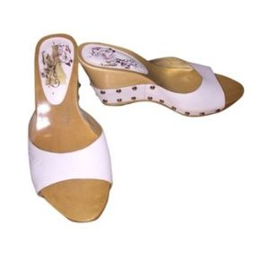 Guess Shoes - GUESS White Wedge Sandals