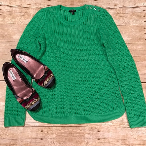 72% off Talbots Sweaters - Talbots Kelly green cable knit sweater ...