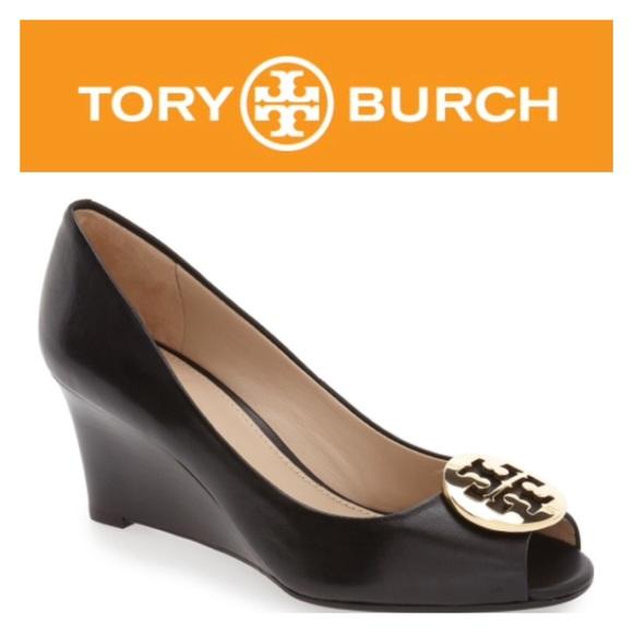 c521752eb624 Tory Burch  Kara  Wedge Pump. M 57eb78f2bf6df53616001d0c