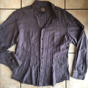 Roar Other - Roar Frayed-Style Buckle Shirt