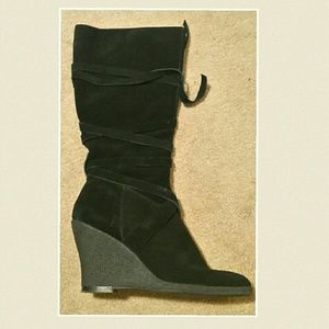 Enzo Angiolini Shoes - LAST CHANCE!Enzo Angiolini Black Suede Wedge Boots