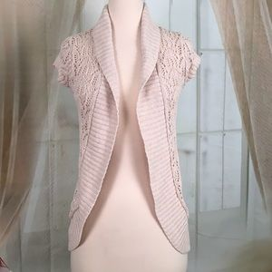 SO Cream Colored Open Cardigan
