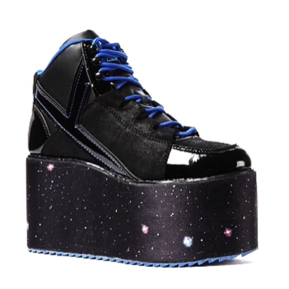 2d2851da258b YRU Qozmo High Cosmic Galaxy Platform Sneakers