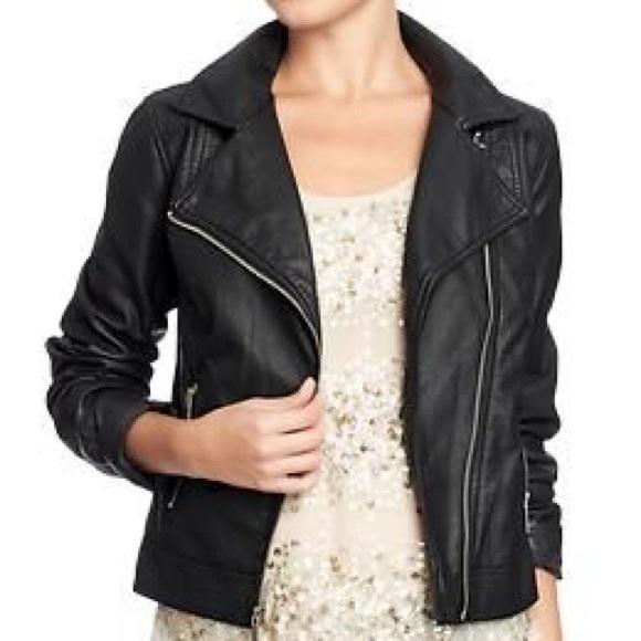 Old Navy Jackets Coats Faux Leather Jacket Xs Poshmark