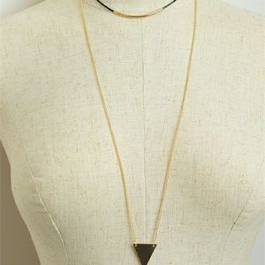 angelochekk boutique  Jewelry - SALE NWT  TRIANGLE SHAPE CHAIN DROP NECKLACES