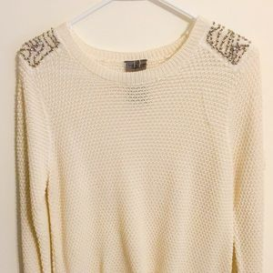 Moon Collection Sweaters - Beaded Knit Sweater