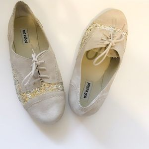 Not Rated Shoes - Cream & Gold Oxfords