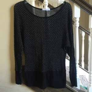 Lightweight Black and Silver Sweater