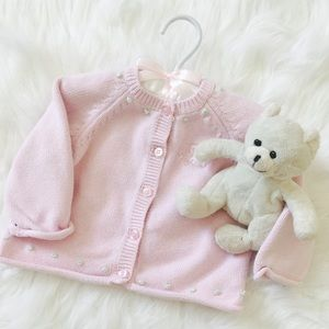 Nordstrom Baby Other - EUC Baby girls pink cardigan!✨💖