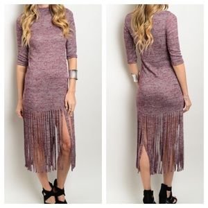 Dresses & Skirts - 🎉🎉HP 10/10,12/6🎉🎉New -Wine Light Sweater Dress