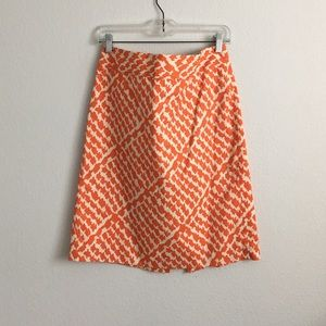 J.Crew patterned pencil skirt