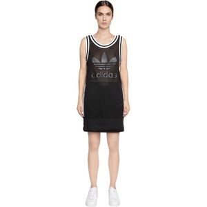 adidas originals grey pastel rose tank dress