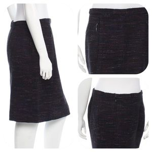 Midnight & Multi-color Chanel Pencil Skirt
