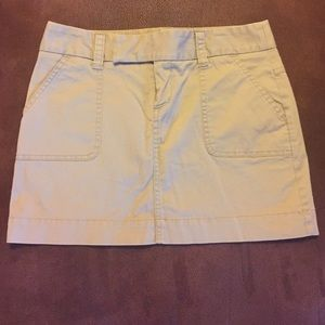 VS London Jean chino stretch khaki skirt