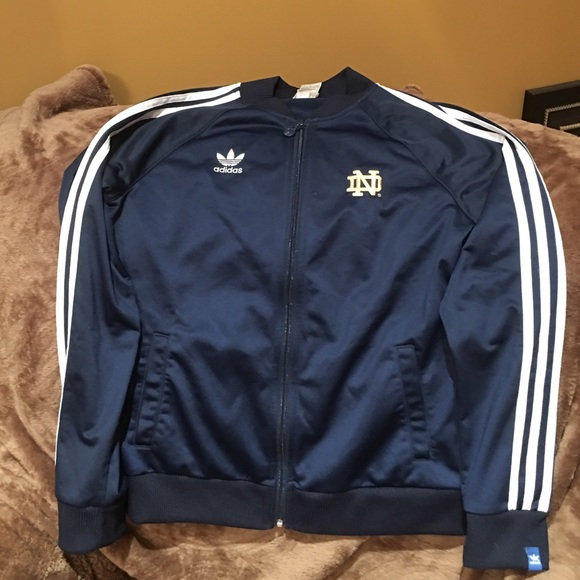 navy blue adidas jacket dame