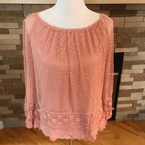 Sophie Max Tops - Pink Sophie Max Lace Top