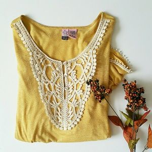 3x HOST PICK! Love On A Hanger Mustard Boho Blouse