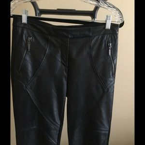 Neiman Marcus Pants - Neiman Marcus black leather pants Sz S